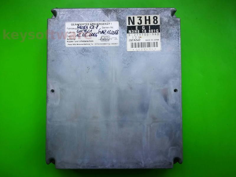 ECU Mazda RX8 279700-943 N3H818881G