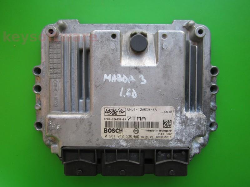 ECU Mazda 3 1.6TDCI 6M61-12A650-BA 0281012530 EDC16C34