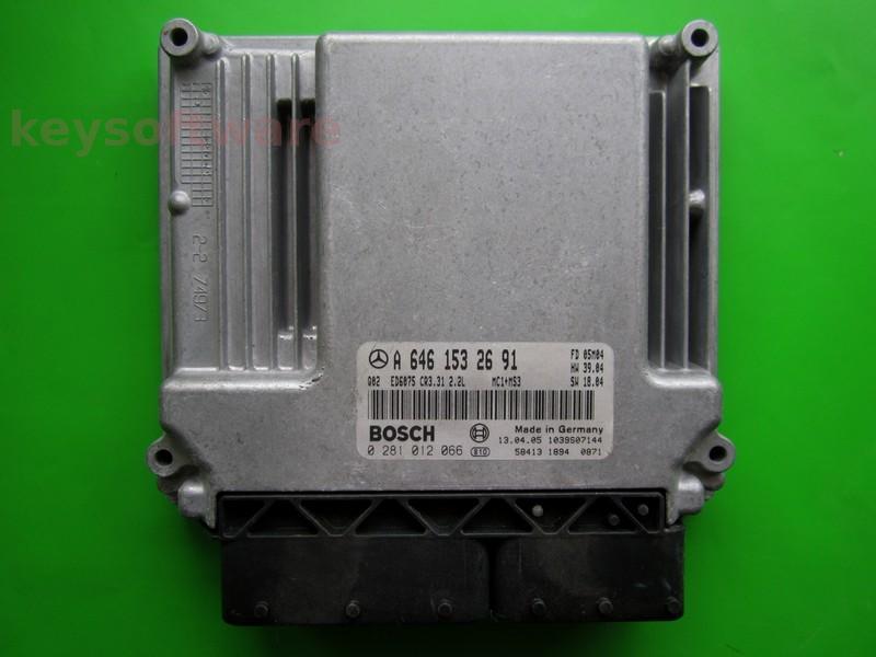 ECU Mercedes Vito 2.2CDI A6461532691 0281012066 EDC16C2