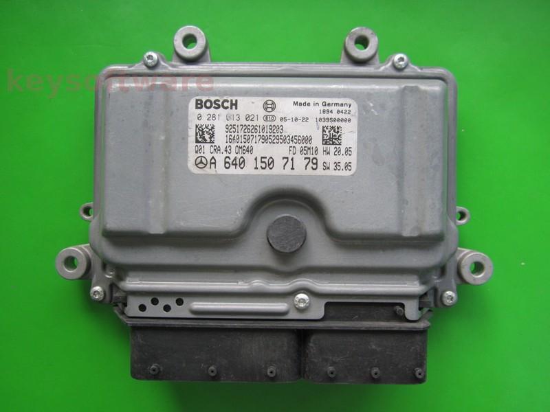 ECU Mercedes A180 1.8CDI 0281013021 CRA.43 EDC16C32 W169