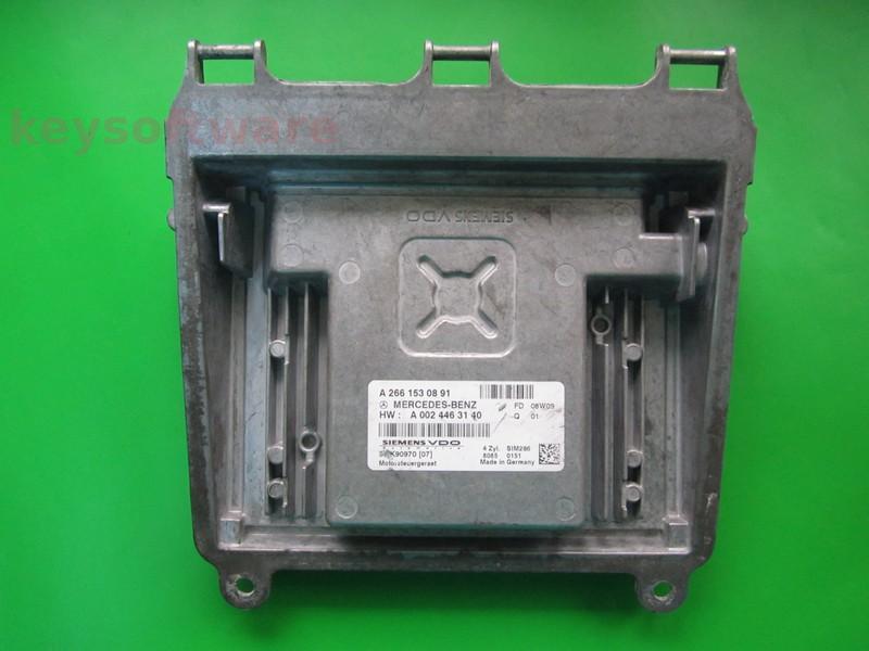 ECU Mercedes A150 1.5 A2661530891 SIM266 W169