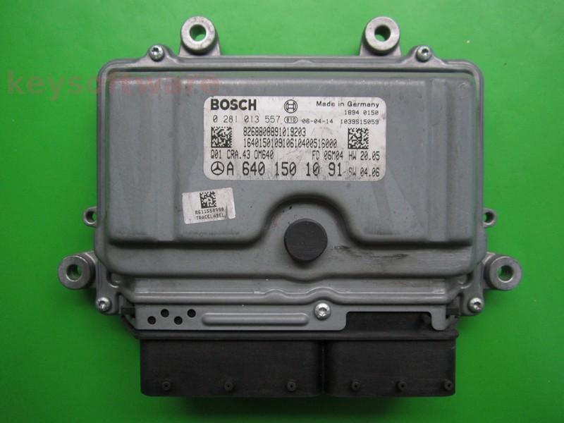 ECU Mercedes B 2.0CDI A6401501091 0281013557 CRA.43 EDC16C32