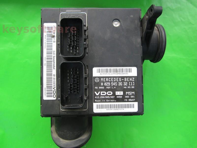 ECU Mercedes A 1.4 A0295453632 MSM1.4 W168 {