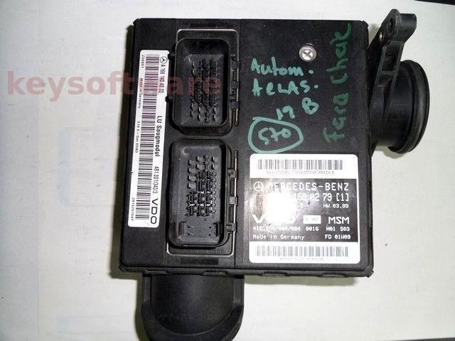 ECU Mercedes A 1.4 A1661500279 MSM1.3 W168