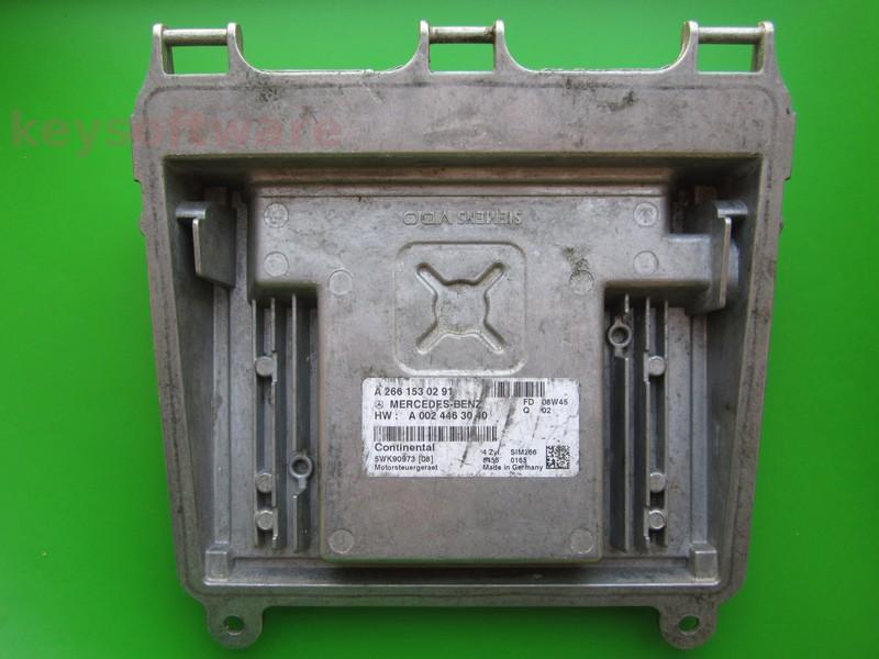 ECU Mercedes B 1.7 A2661530291 SIM266 W245