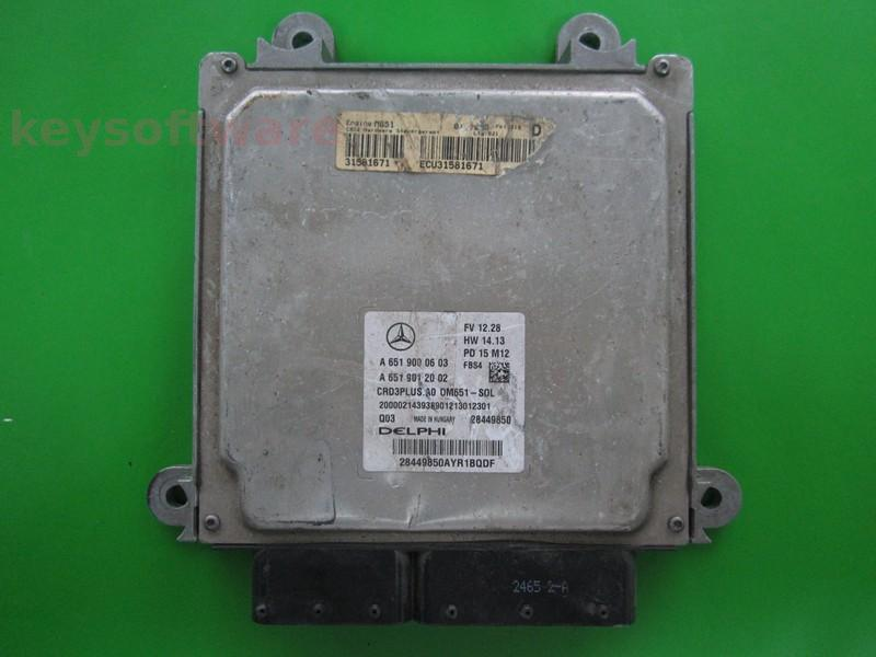 ECU Mercedes C 2.1CDI A6519000603 CRD3PLUS.A0