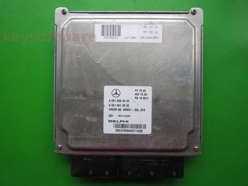 ECU Mercedes Sprinter 2.2CDI A6519003403 CRD3.B0 DELPHI