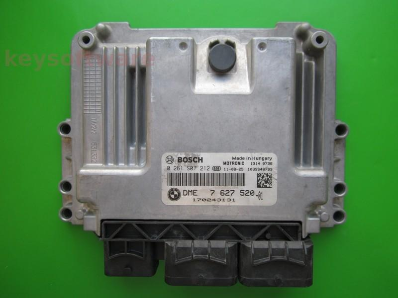 ECU Mini Cooper 1.6 0261S07212 DME7627520 MED17-22