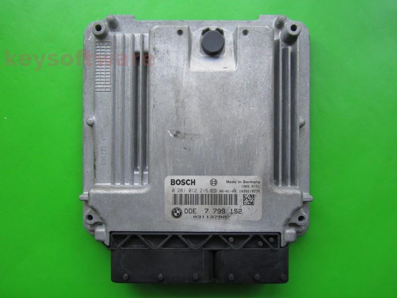 ECU Mini Cooper 1.4D DDE7799152 0281012216 EDC16C35