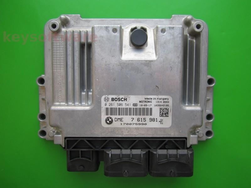 ECU Mini Cooper 1.6 0261S06541 DME7615981 MEV17.22