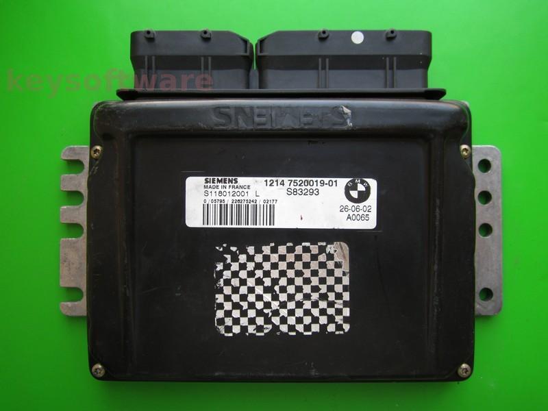 ECU Mini Cooper 1.6 7520019 S118012001L EMS2