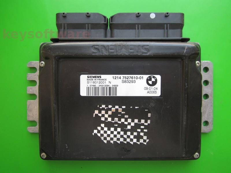 ECU Mini Cooper 1.6 7527610 S118012001N EMS2