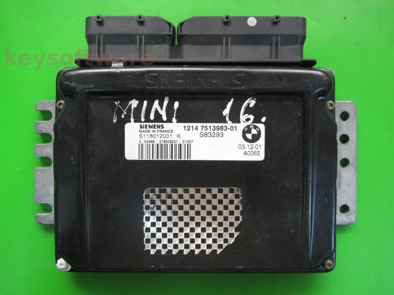ECU Mini Cooper 1.6 7513983 S118012001K EMS2