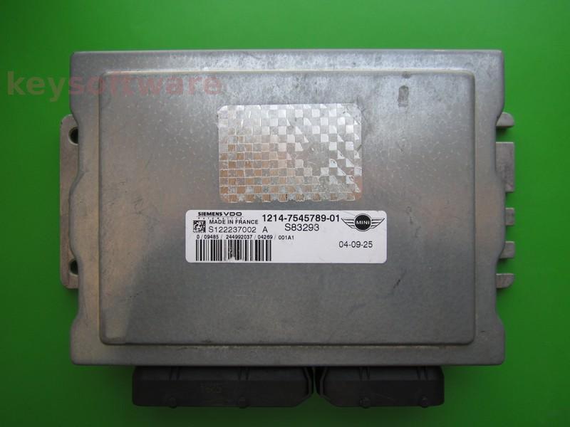 ECU Mini Cooper 1.6 7545789 S122237002A EMS5150