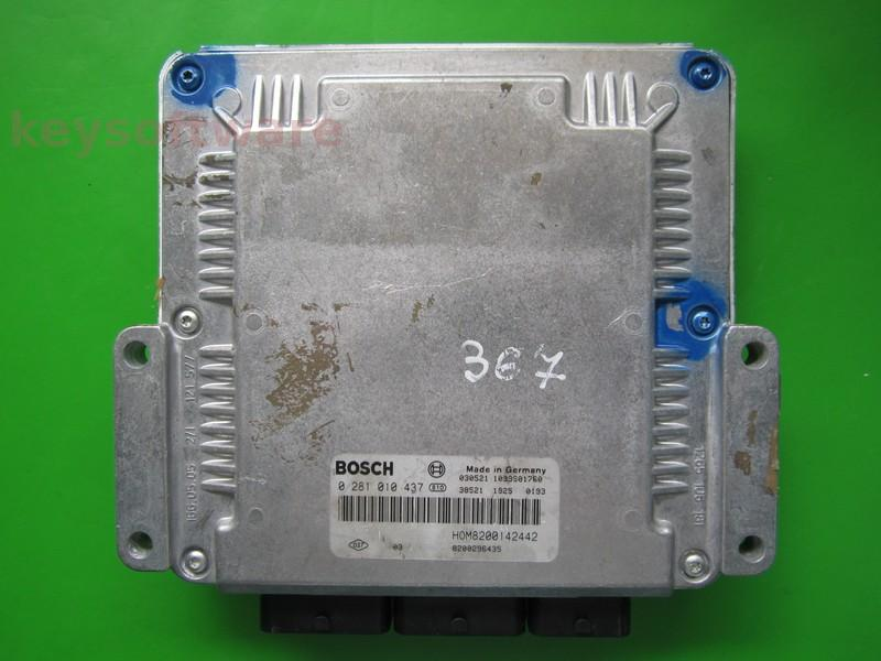 ECU Mitsubishi Carisma 1.9DID 8200142442 0281010437 EDC15C3