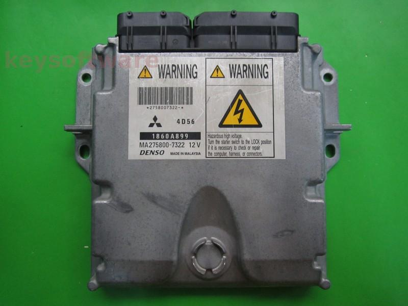 ECU Mitsubishi L200 2.5DID 1860A899 MA275800-7322 4D56