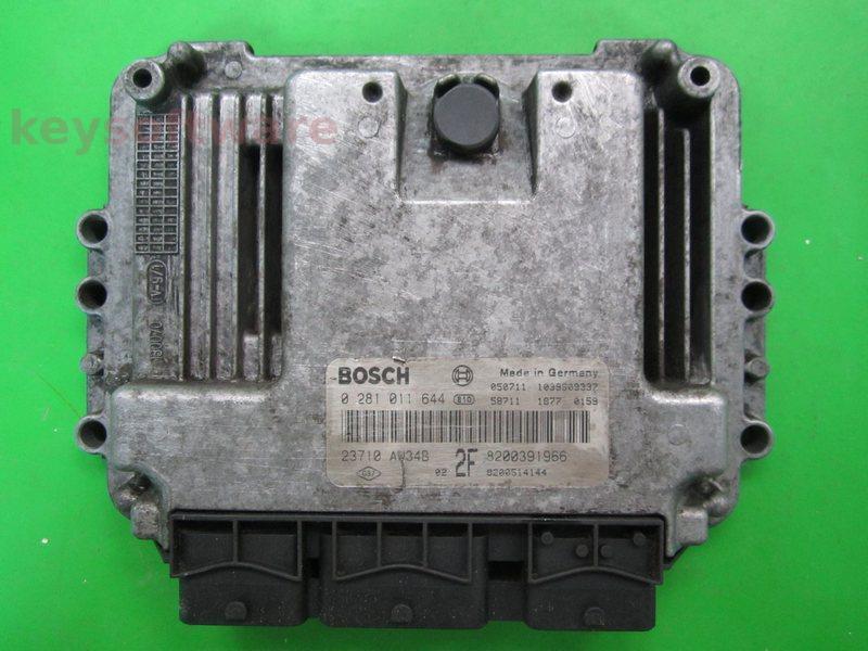 ECU Nissan Primera 1.9DCI 8200391966 0281011644 EDC16C3 {