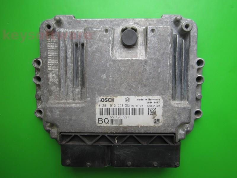 ECU Opel Astra H 1.9CDTI 0281012548 EDC16C9 }