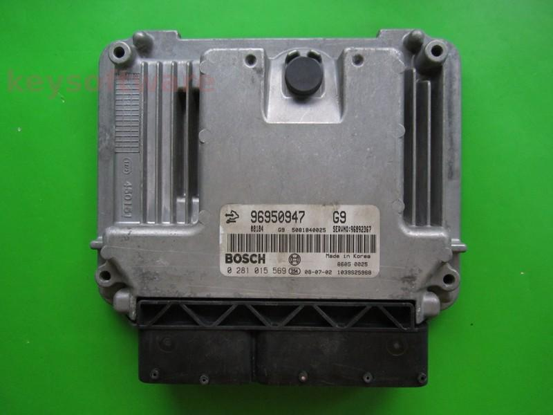 ECU Opel Antara 2.0CDTI 96950947 0281015569 EDC16C39