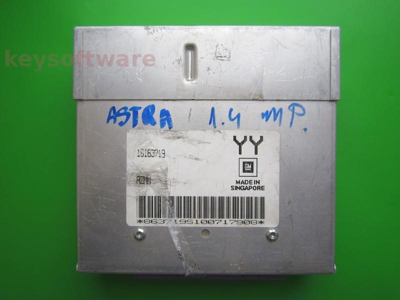 ECU Opel Astra F 1.4 16163719 YY AZMN mov