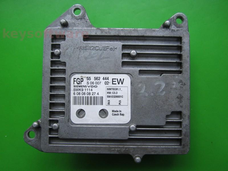 ECU Opel Zafira 2.2 55562444 Simtec 81.1