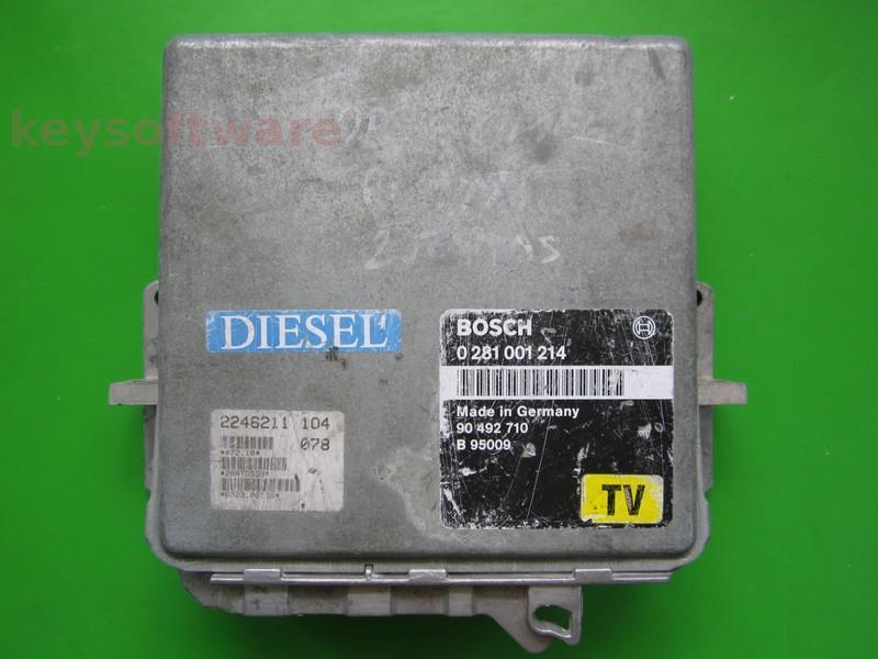 ECU Opel Omega 2.5TD 90492710 0281001214 MSA11
