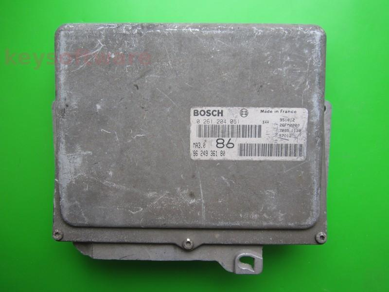 ECU Peugeot 106 1.0 9624936180 0261204051 MA3.0