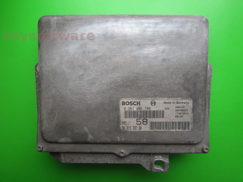 ECU Peugeot 106 1.1 9631528780 0261204788 MA3.1