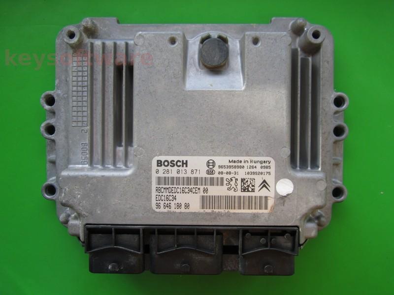 Defecte Ecu Peugeot Partner 1.6HDI 0281013871 EDC16C34 9HZ