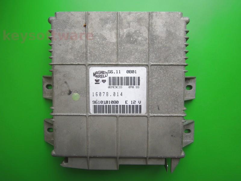 ECU Peugeot 106 1.1 9610191080 G6.11 0B01