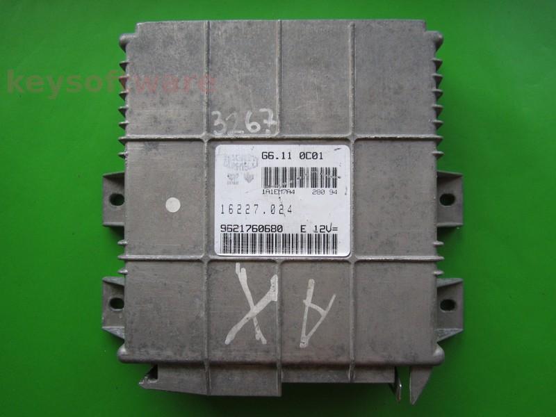 ECU Peugeot 106 1.1 9621760680 G6.11 0C01