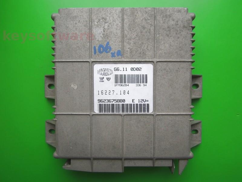 ECU Peugeot 106 1.1 9623675880 G6.11 0D02