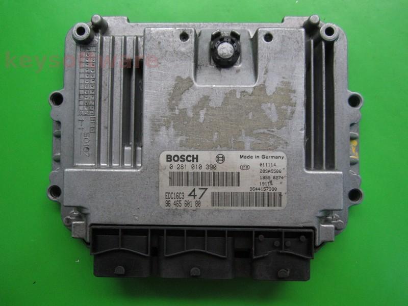 ECU Peugeot 307 1.4HDI 9646560180 0281010390 EDC16C3 8HZ