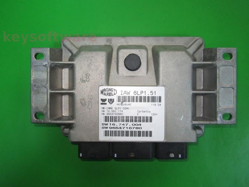 ECU Peugeot 307 2.0 9654716780 IAW 6LP1.51 {