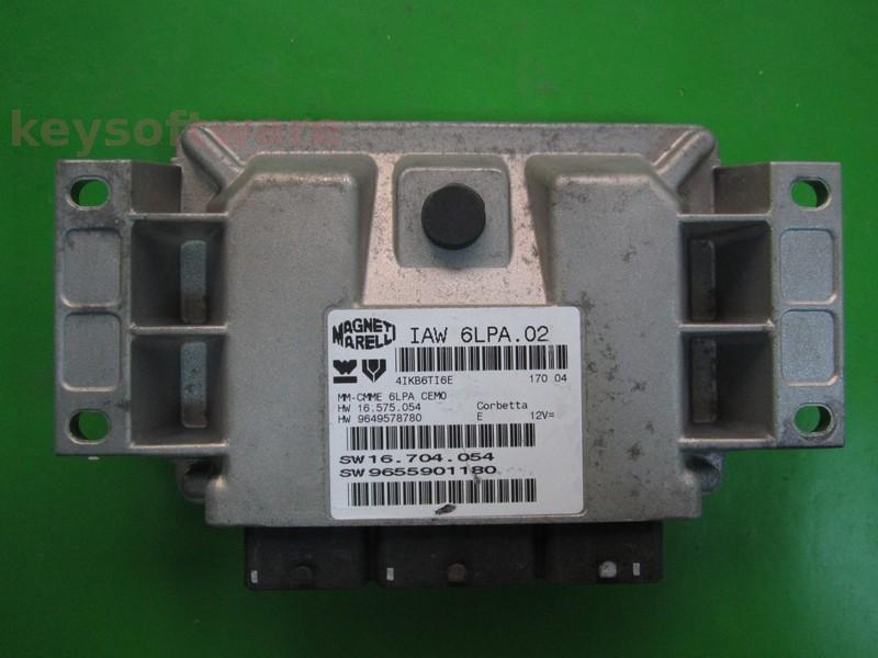 ECU Peugeot 307 2.0 9655901180 9649578780 IAW 6LPA.02
