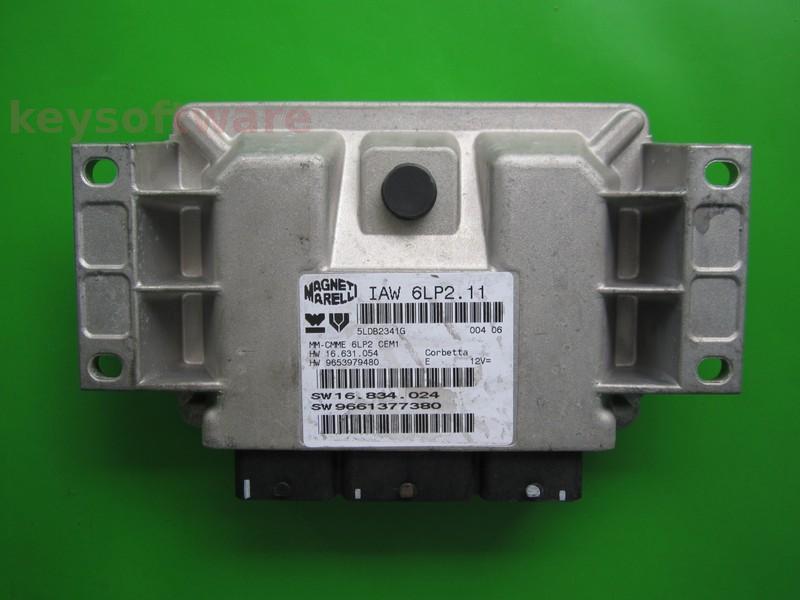 ECU Peugeot 1007 1.4 9661377380 IAW 6LP2.11