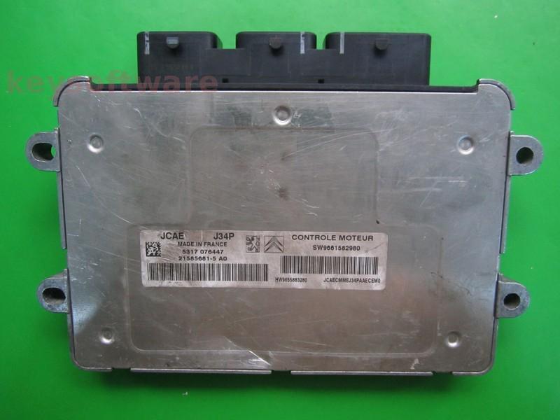 ECU Peugeot 1007 1.4 9661582980 21585681 J34P