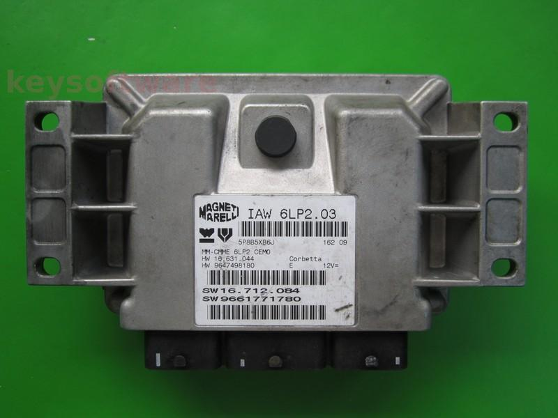 ECU Peugeot 206 1.4 9661771780 IAW 6LP2.03
