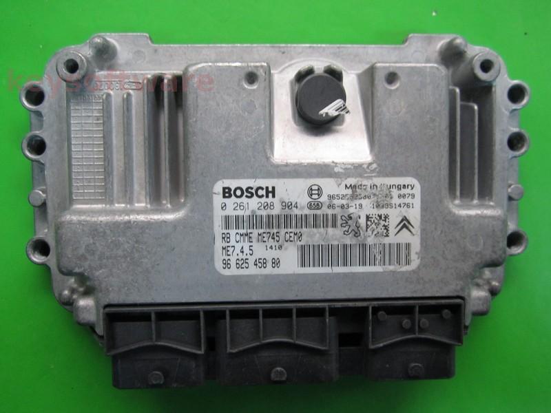 ECU Peugeot 1007 1.6 9662545880 0261208904 ME7.4.5