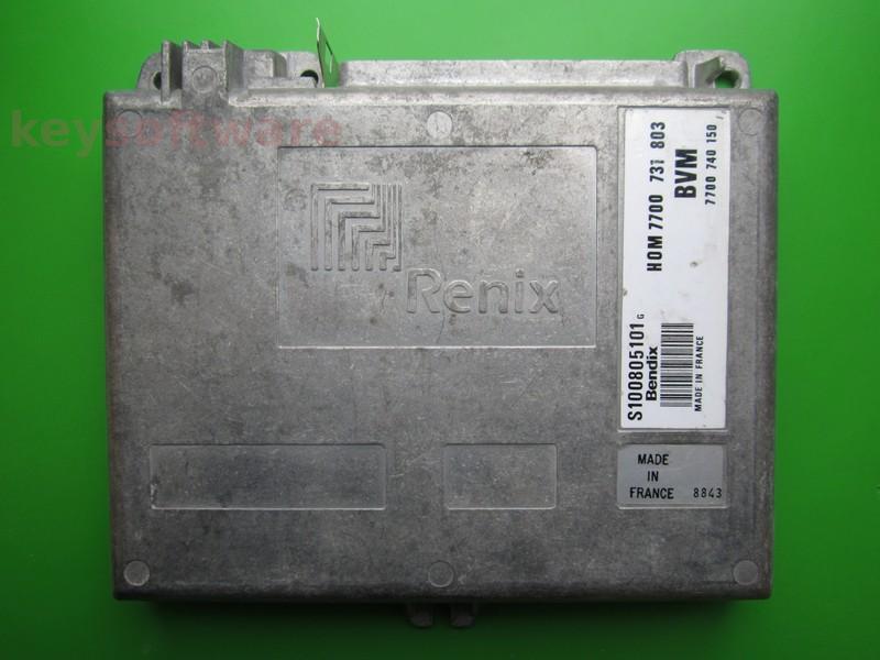 ECU Renault 21 2.0 S100805101G HOM7700731803 Bendix