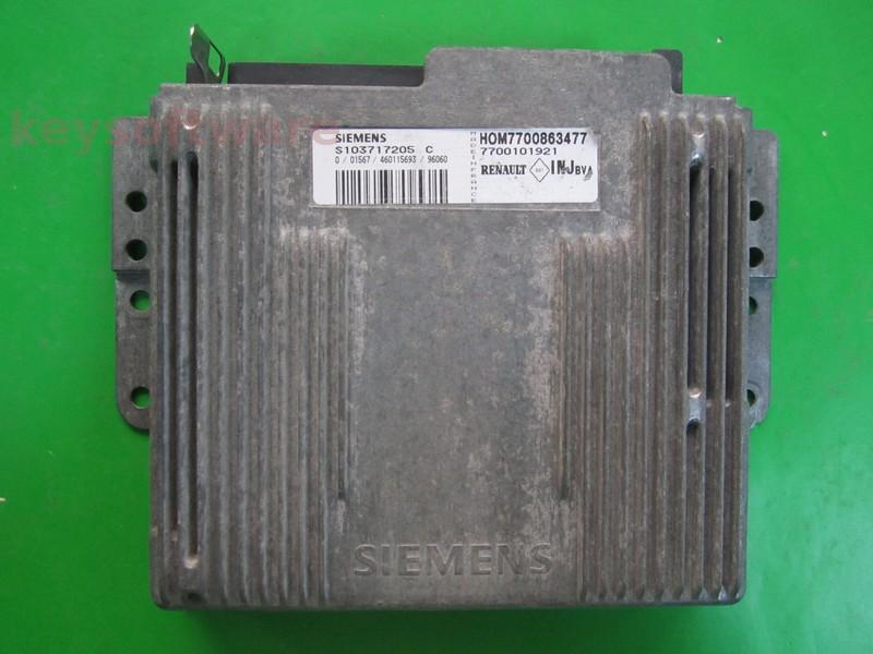 ECU Renault Laguna 2.0 7700863477 S103717205C Fenix 5