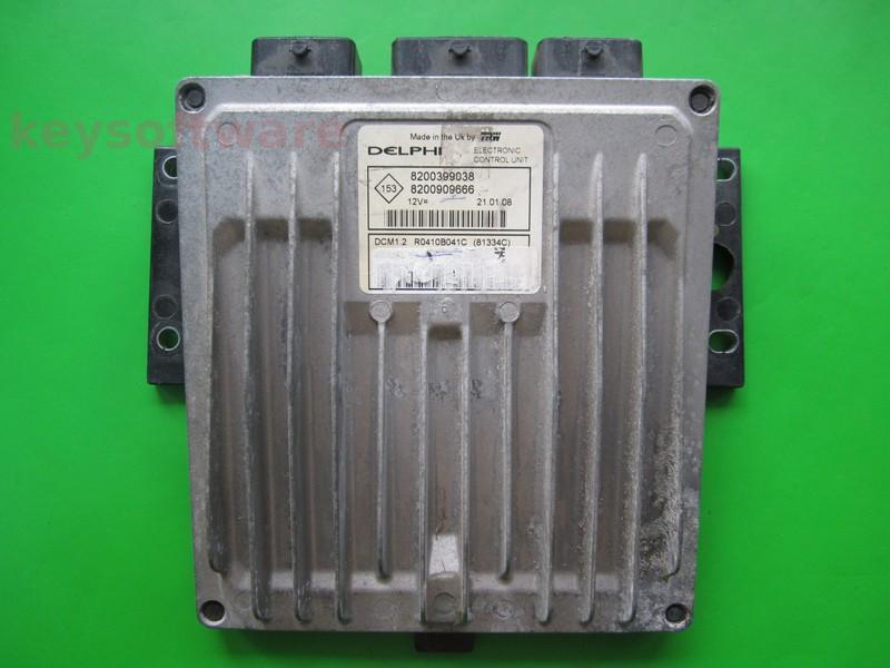 ECU Renault Kangoo 1.5DCI 8200909666 81334C DCM1.2