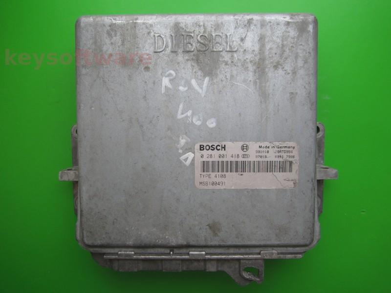 ECU Rover 220 2.0D MSB100491 0281001418 MSA11