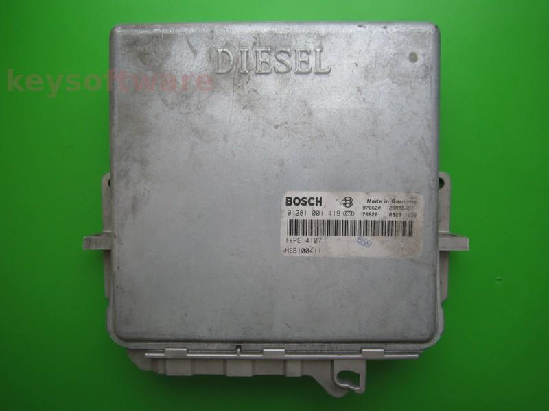 ECU Rover 620 2.0D MSB100411 0281001419 MSA11