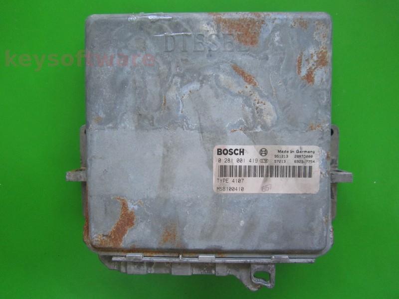 ECU Rover 620 2.0D MSB100410 0281001419 MSA11