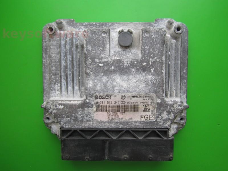 ECU Saab 9-3 1.9TID 55558457 0281012247 EDC16C9