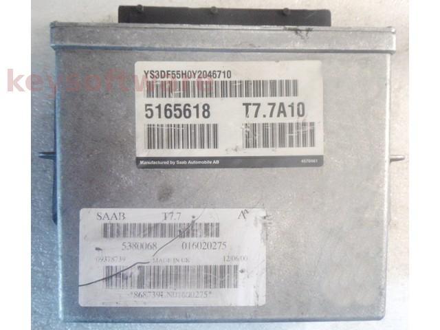 ECU Saab 9-3 2.0 5165618 T7.7A10 {