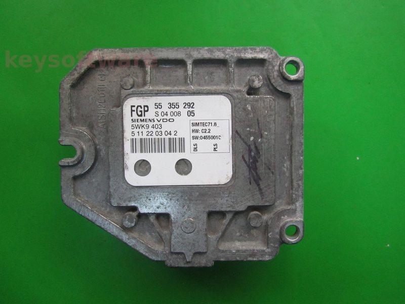 ECU Saab 9-3 1.8 55355292 Simtec 71.6 {