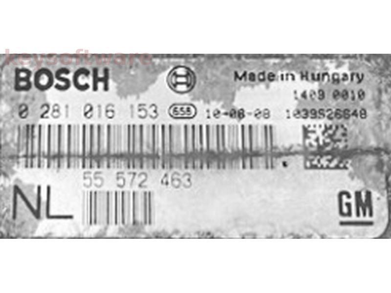 ECU Saab 9-3 1.9 55572463 0281016153 EDC16C39 {