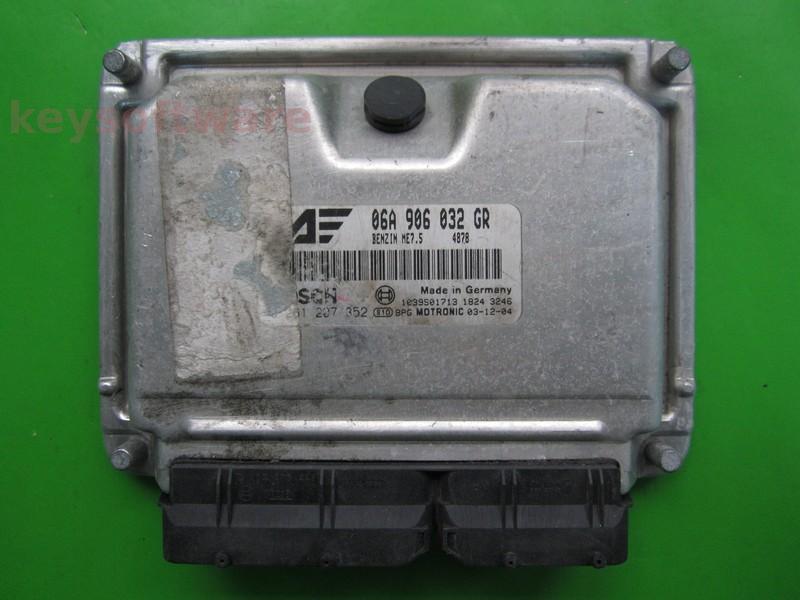 ECU Seat Alhambra 2.0 06A906032GR 0261207352 ME7.5 ATM {